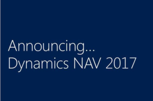 Announcing Dynamics NAV 2017